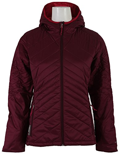 Icebreaker Women's Stratus Long Sleeve Zip Hoodie, Maroon/Raspberry/Raspberry, Medium