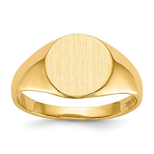 Mia Diamonds 10k Yellow Gold Signet Engraveable Ring ()