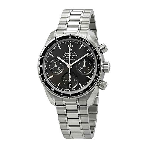 Omega Watch Wrist Automatic (Omega Speedmaster Chronograph Automatic Black Dial Mens Watch 324.30.38.50.01.001)