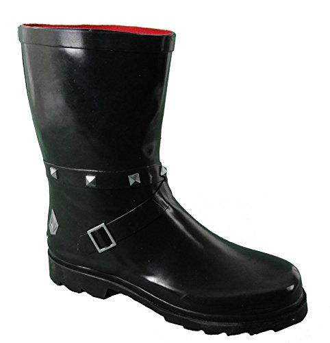 SIZE B22 BLACK UK amp; HALF WOMENS WELLIE FUNKY 9 4 LADIES READING FESTIVAL V 8 GIRLS RAIN 5 SIZE BOOTS GLASTONBURY SELLER 3 6 7 6 MUD 5 qwSHFpF4Bn