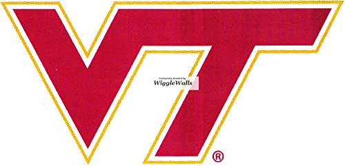 5 Inch Virginia Tech VT Logo Polytechnic Institute and State University VT Hokies Removable Wall Decal Sticker Art NCAA Home Room Decor 5.5 by 3 Inches