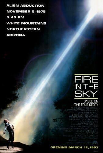 Amazon.com: Fire en el cielo Cartel de película (27 x 40 ...