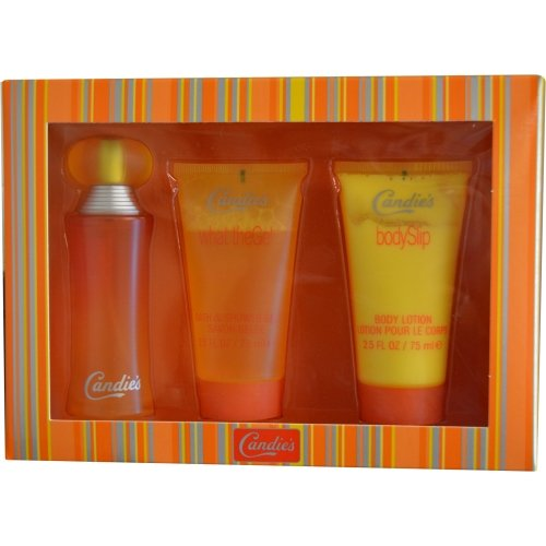 Candies Gift Set for Women (Eau De Toilette Spray, Body Lotion, Shower Gel)