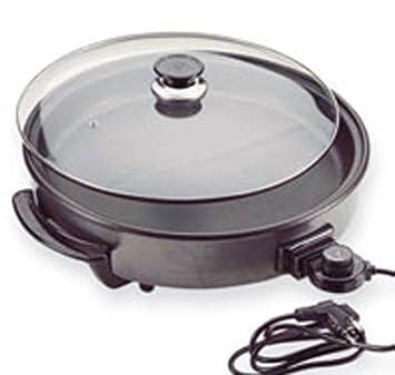 Jocca Sartén Eléctrica, Aluminio, Negro, diámetro de 38cm: Amazon.es: Hogar