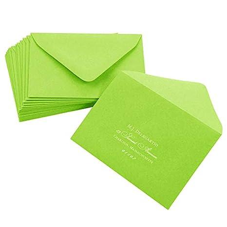 amazon com a9 gmund colors matt leaf green envelopes euro flap