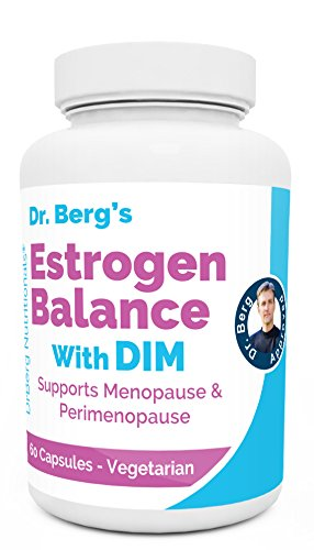 Dr. Berg's Estrogen Balance with DIM (Diindolylmethane) / Promotes Healthy Estrogen Metabolism, Vegetarian Capsules – Aromatase Inhibitor to Support Healthy Estrogen Levels