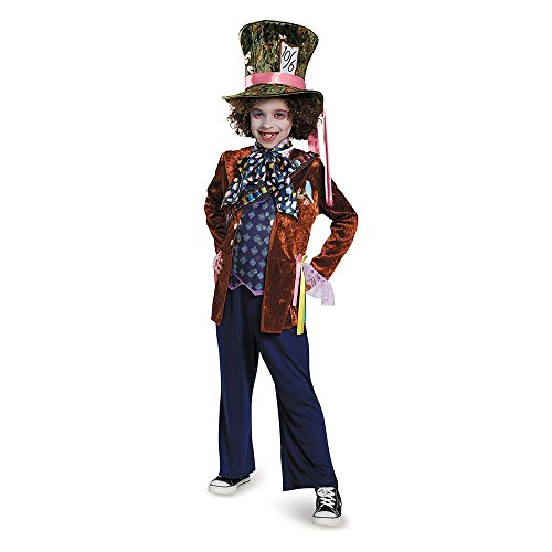 Alice Movie Costumes (Mad Hatter Deluxe Alice Through The Looking Glass Movie Disney Costume, Medium/7-8)