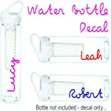 PCSL Sports/Water Bottle Name Sticker - Love Island Style Decal to Create your own bottle just like the TV Show