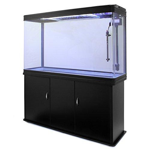 MonsterShop - Acuario 300 Litros Con Armario Negro, Luz LED y Visión de 180 Grados: Amazon.es: Juguetes y juegos