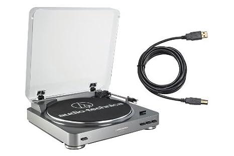 Amazon.com: Audio Technica at-lp60usb Tocadiscos con puerto ...