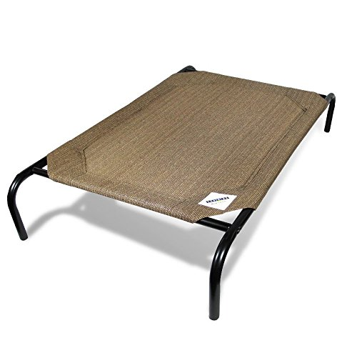 Pacific Pools Spas - The Original Elevated Pet Bed By Coolaroo - Large Nutmeg