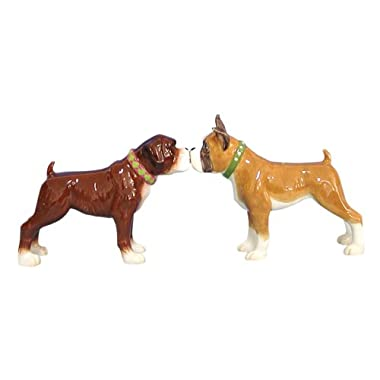 Westland Giftware Mwah Magnetic Boxers Salt and Pepper Shaker Set, 3-1/2-Inch