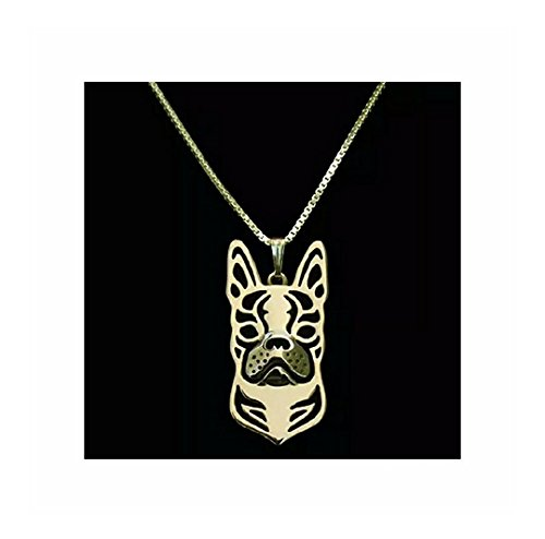 Boston Terrier Necklace Rose Gold-Tone