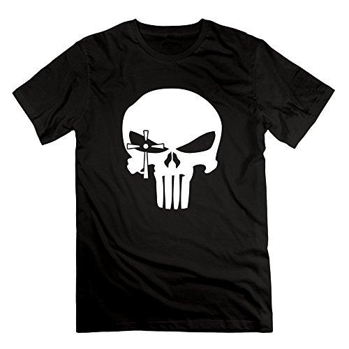 DeMai Mens Short Sleeve American Sniper Skull 1 Tee Shirts L Black - Th American Sniper