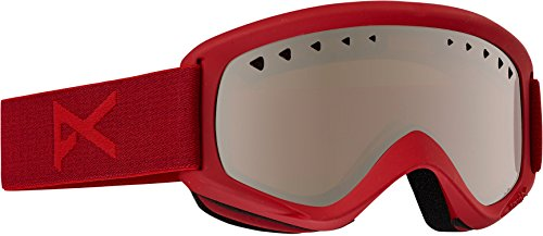 Anon Men's Helix Goggles W. Spare Lens, Blaze/Silver Amber, One - Amber Lens Goggles