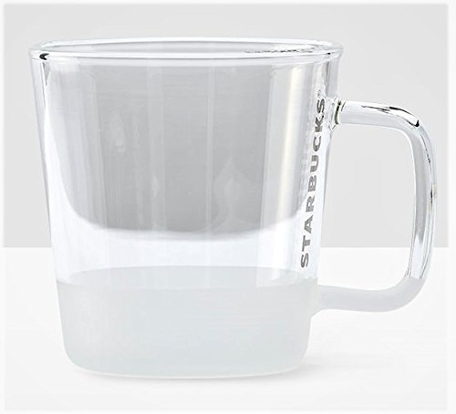 Starbucks Clear & Grey Handle Glass Mug - 12 ()