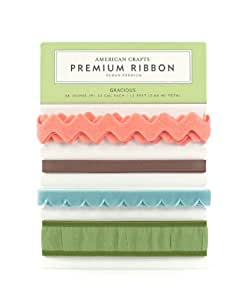 American Crafts Letterbox Gracious Carded Ribbon