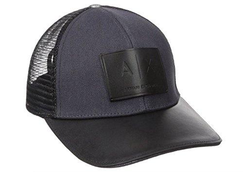 Armani Exchange Men's Logo Patch Trucker Hat, Navy, One Size