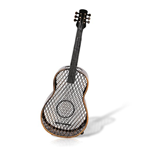 Tooart Decoración de Guitarra, Guitarra Vino Corcho Contenedor Artesanías Decoración del hogar Artesanía prá