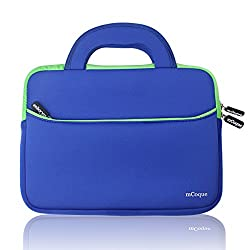 """Mcoque Quality Blue Neoprene Bag For Asus Chromebook Flip 10.1 Inch Chromebook Or Other 10"""" Laptop & Tablet"""