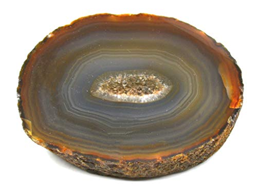 Brown Agate Slab, 0.6-0.9lbs - Freeform Geode with Polished Cross Sectional Cut - 100% Authentic Brazilian Agate - The Artisan Mined Series by hBAR