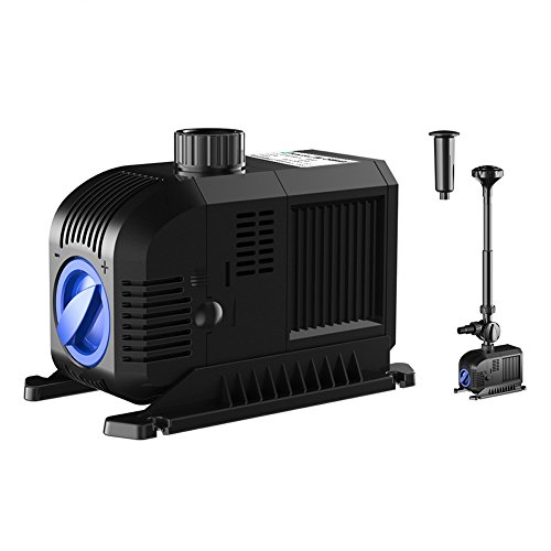 SongJoy 1321 GPH Fountain Pump 80W for Indoor Outdoor Submersible Pond Pond Aquarium Fish Tank Hydroponics With 32.8ft Power Cord (Submersible Accessory)