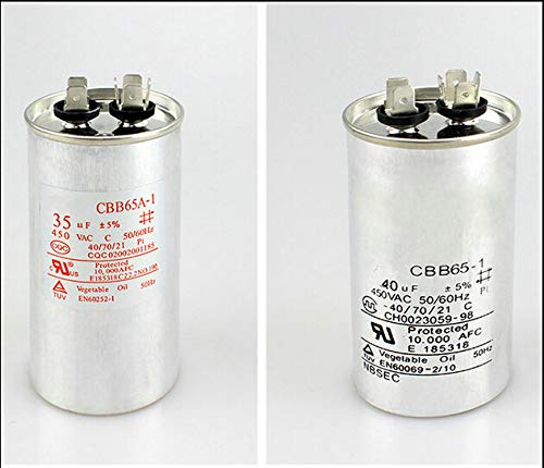 CBB65 air conditioner compressor starting capacitor 25UF/30/35UF/40/45/50/60UF 450V - (AMP: 60UF)