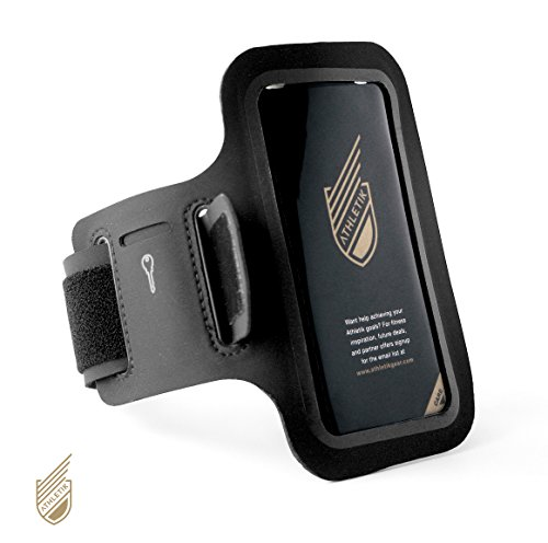 Price comparison product image Athletik Premium Sports Armband for iPhone 4, 5, 6 with Pockets for Cash/Cards and a House Key.