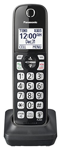 Panasonic KX-TGDA51M Dect 6.0 Digital Additional Cordless Metallic Black Handset for KX-TGD56x Series (Cordless Phone Series Dect)