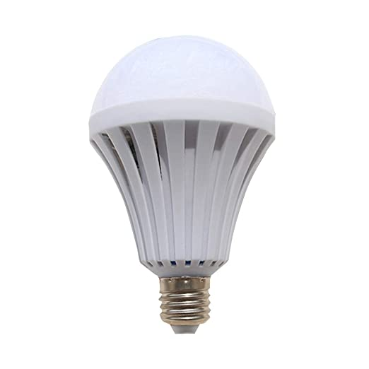 Pondkoo - Bombilla LED de emergencia recargable, 1600 lm, luz blanca fría, ahorro