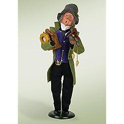 Byers' Choice 13.5 Festive Seasons Clockmaker Christmas Caroler Figure