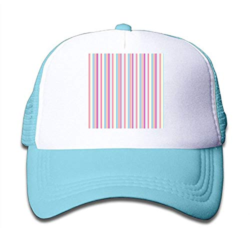 (Pinstripe Kids Trucker Hat Baseball Cap is Available in Baby, Toddler, and Youth Sizes)