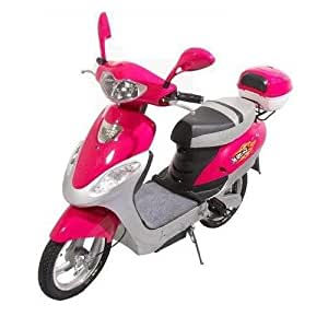 X-Treme Scooters Electric Bicycle Scooter Moped (Pink)