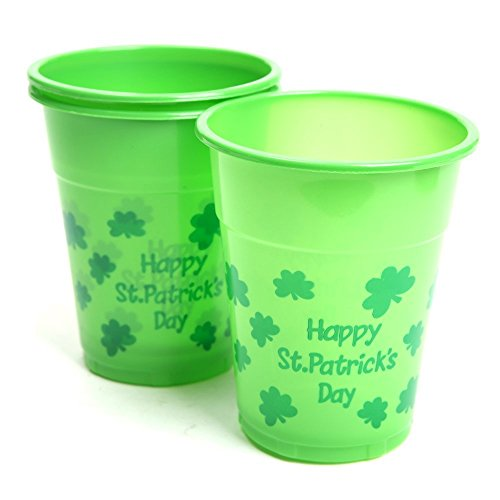 St. Patricks Day Disposable Cups (Party Pack: 100 Count)