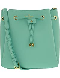 Kate Spade Women's Cape Drive Harriet Leather Shoulder Bag Tote - Soft Aqua/Mint Splash