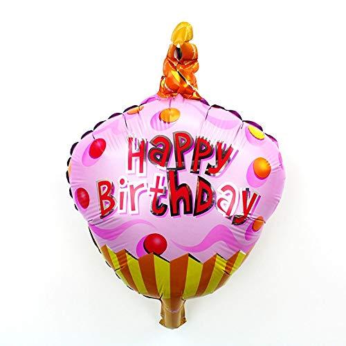 Amazon 1 Piece Cartoon Mini Princess Birthday Cake Helium Foil Balloons Chocolate Boy Girl Kids Happy Party Decoration Kitchen