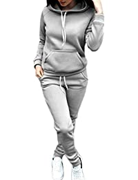 Women Jogger Outfit Matching Sweat Suits Long Sleeve Hooded Sweatshirt and Sweatpants 2 Piece Sports Sets