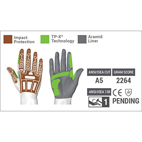 HexArmor Rig Lizard 2035 Waterproof Work Gloves with Thinsulate and Impact Protection by HexArmor (Image #2)