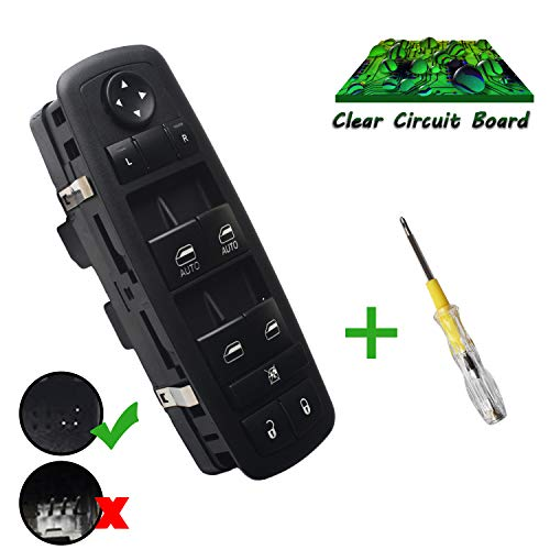 Beneges Master Power Window Switch Compatible with 2012-2015 Chrysler Town & Country, 2012-2015 Dodge Grand Caravan, 2013-2015 Dodge Ram 1500 2500 3500 4500 5500 C/V 68110866AB, 68110866AA (Size Window Panel Chart)