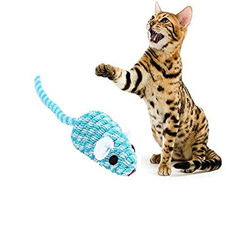 Cat Toys - 1pcs Kitten Exercise Scratch Toy Elastic False Mouse Cat Toys Ful Funny Playing