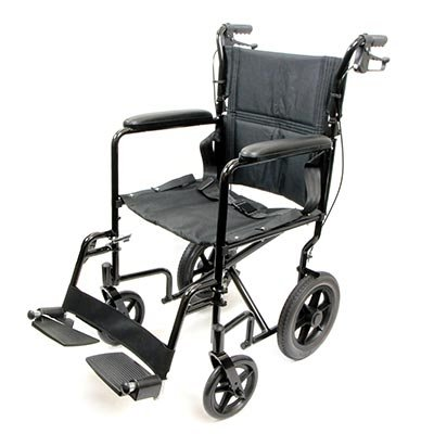 (Deluxe Lightweight Aluminum Transport Wheelchair - 1 Each / Each - Color Blue)