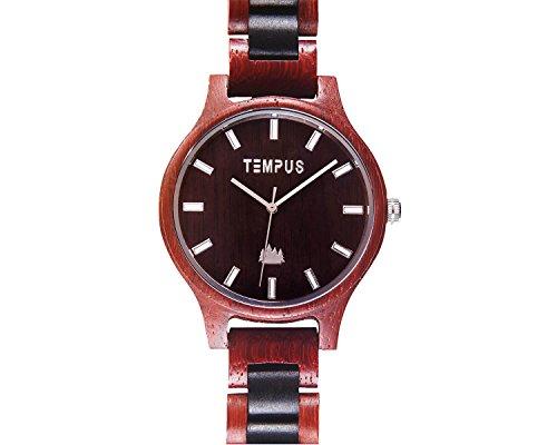 TEMPUS Classico - Two Tone Rosewood Black Sandalwood Men's Wood Wooden Watch - TWW-02 -Gift for Men