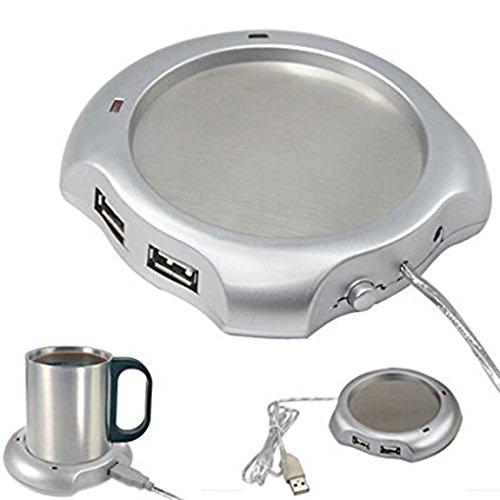 New Arrival Coffee/Tea Cup Mug Funny Mugs Warmer Heater Pad Office Home + 4 Port Usb Hub for Pc Laptop
