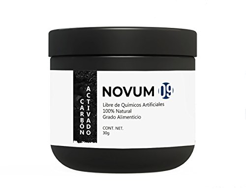 Novum 09 - CARBÓN VEGETAL ACTIVADO - 100% natural para blanqueamiento dental, mascarilla ó bebida con carbón activado.
