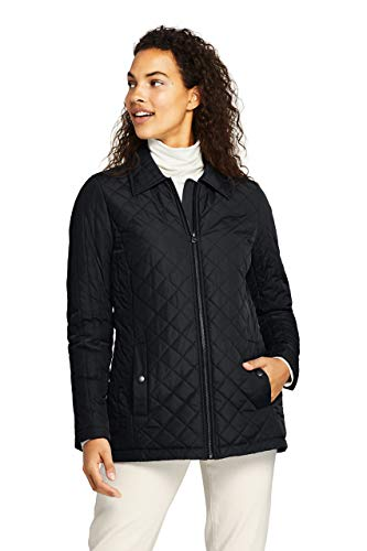 black quilted jacket - 8