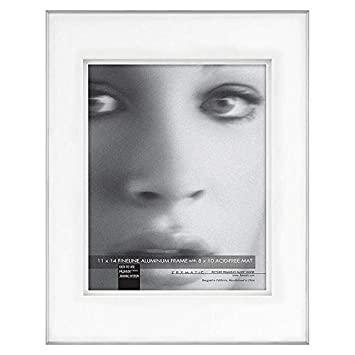 Amazoncom Fineline Picture Frame Color Silver Size 11 X 14