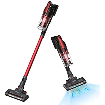 Ultra Lightweight Cordless Stick Vacuum Cleaner Long Running Time and Powerful Suction for Pet Hair Carpet Hardwood Floor Sofa, with Large Dust Cabin, ...