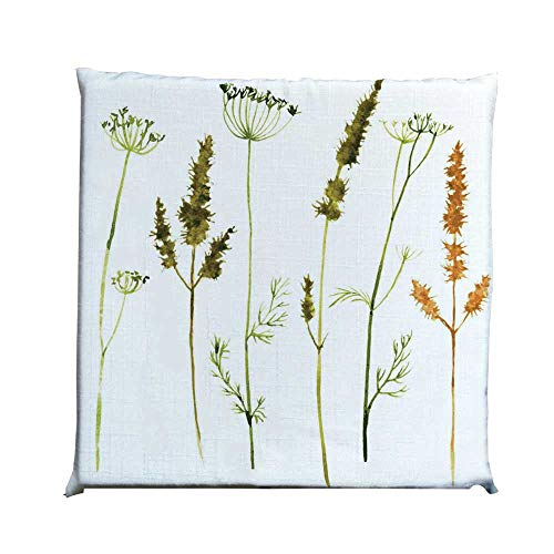 YOLIYANA Watercolor Durable Square Chair Pad,Wild Flowers Herbs and Twigs Wilderness Untamed Plants Ecological Art Decorative for Bedroom Living Room,One Size (Wildflower Hammock Chair Swing)