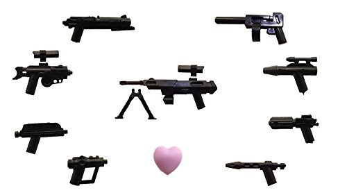 Lego /Little Arms - Star Wars™ 9 Pieces Toy-Weapon-Set Sniper Blaster Pistol + LEGO-Clikits Heart