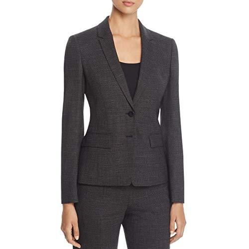 Hugo Boss BOSS Womens Jewisa Wool Office Two-Button Blazer Black ()